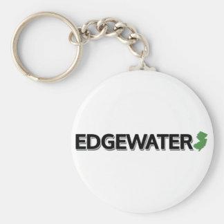 Edgewater, New Jersey Basic Round Button Key Ring