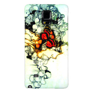 Edgy Black and white creepy surreal punk rocker Galaxy Note 4 Case