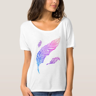 Edgy & Chic Intricate Lace Feather illustration T-Shirt