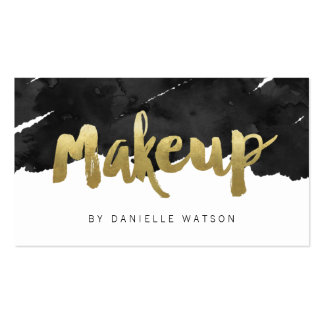 Edgy Faux Gold Foil Makeup Artist Pack Of Standard Business Cards