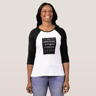Edgy Film Print Raglan T-Shirt