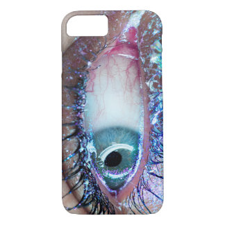 Edgy Glitter Close Up Eye Phone Case