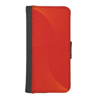 Edgy iPhone Wallet Case in Orange & Red