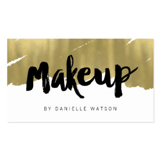 Edgy Painted Faux Gold Foil Makeup Artist Pack Of Standard Business Cards