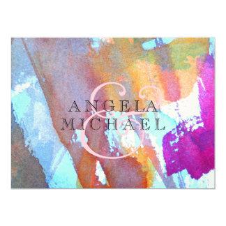 Edgy Watercolor 17 Cm X 22 Cm Invitation Card