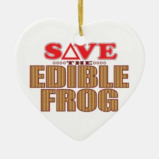Edible Frog Save Christmas Ornament