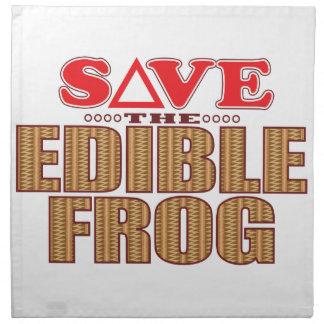 Edible Frog Save Napkin