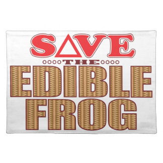 Edible Frog Save Placemat