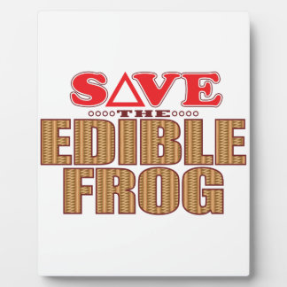 Edible Frog Save Plaque