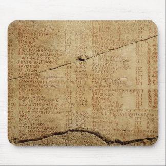 Edict of Emperor Diocletian Mousepads