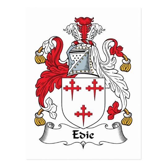 Edie or Edy Family Crest Postcard
