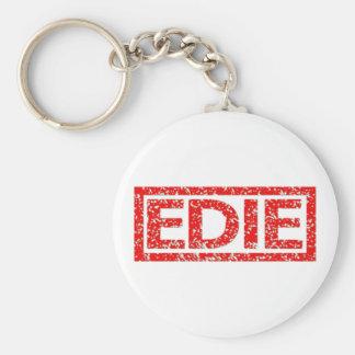 Edie Stamp Basic Round Button Key Ring