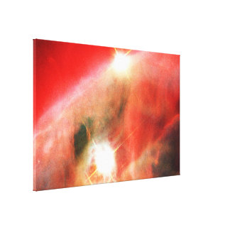 Edifice of Gas and Dust in the Cone Nebula Canvas Print