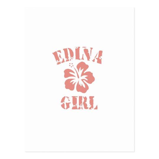 Edina Pink Girl Postcard