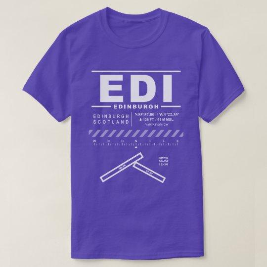 Edinburgh Airport EDI Tee Shirt