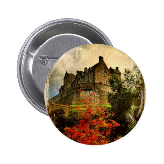 Edinburgh Castle 6 Cm Round Badge