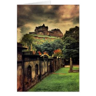 Edinburgh Castle - Antique Style Card
