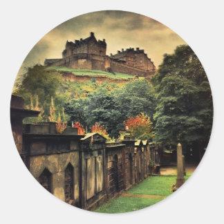 Edinburgh Castle - Antique Style Sticker