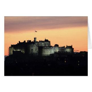 Edinburgh Castle at Night Card