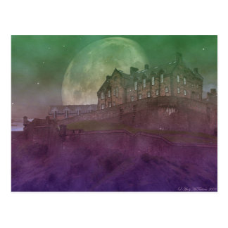 Edinburgh Castle at Night Postcard