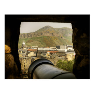 Edinburgh Castle Cannon Postcard