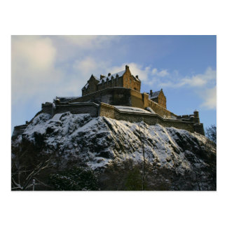 Edinburgh Castle covered in snow Postcard