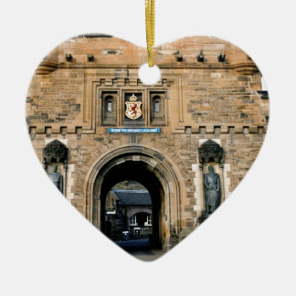 Edinburgh Castle entrance Christmas Ornament