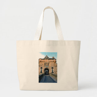 Edinburgh Castle entrance Large Tote Bag