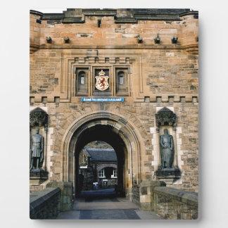 Edinburgh Castle entrance Photo Plaques