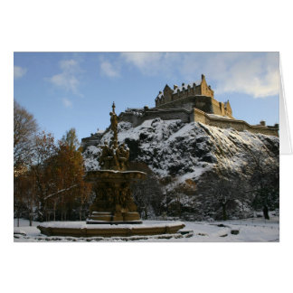 Edinburgh Castle in Winter Card