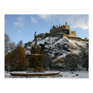 Edinburgh Castle in winter Postcard