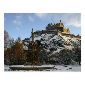 Edinburgh Castle in winter Postcards