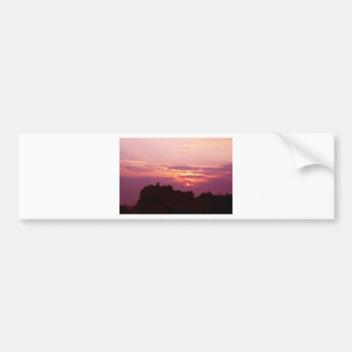 Edinburgh Castle Pink Dusk Bumper Sticker