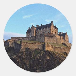 Edinburgh Castle, Scotland Classic Round Sticker