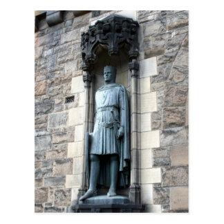 edinburgh castle statue postcards