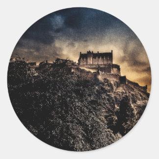 Edinburgh Castle Round Sticker