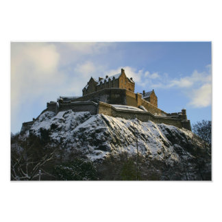 Edinburgh Castle Under Snow Photographic Print
