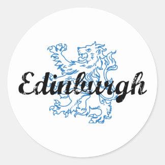 Edinburgh Classic Round Sticker