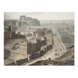 Edinburgh from Calton Hill from A Voyage Around Postcard