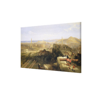Edinburgh from the Castle, 1847 (oil on canvas) Canvas Print
