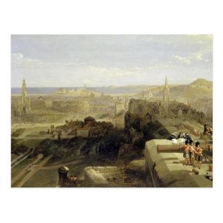 Edinburgh from the Castle 1847 Post Card