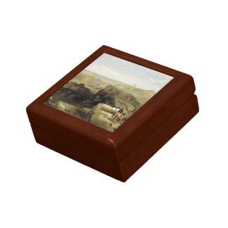 Edinburgh from the Castle 1847 Small Square Gift Box