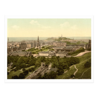 Edinburgh from the Castle, Scotland Postcard