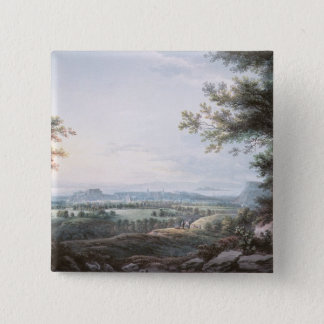 Edinburgh from the South, 18th century 15 Cm Square Badge