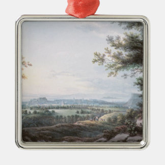 Edinburgh from the South, 18th century Christmas Ornament