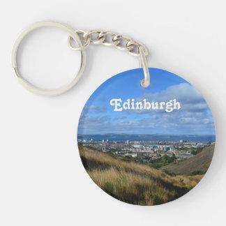 Edinburgh Single-Sided Round Acrylic Keychain