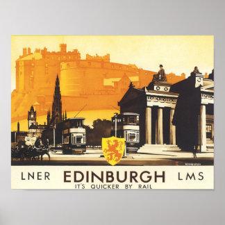 Edinburgh LNER Fine Vintage Travel Poster