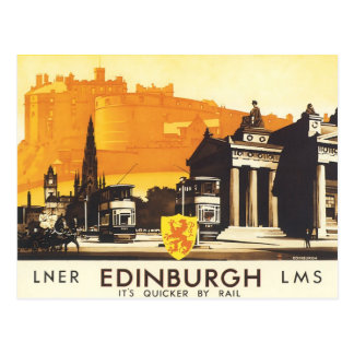Edinburgh LNER Fine Vintage Travel Poster Postcard