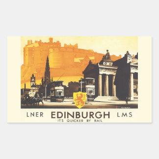 Edinburgh LNER Vintage Travel Rectangular Sticker