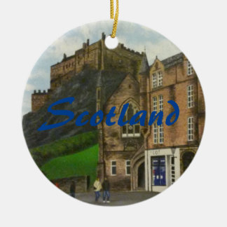 Edinburgh painting - Scotland Christmas Ornament